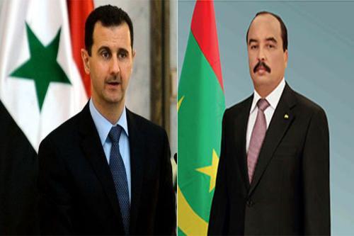 رسالة خاصة من الرئيس الموريتاني إلى نظيره السوري