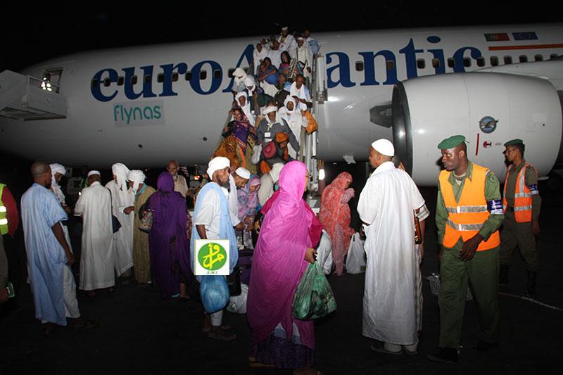 الفوج الأول من الحجاج الموريتانيين يعود إلى الوطن